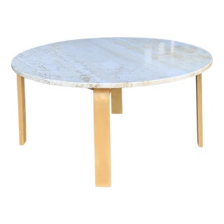 Contemporary Coffee Table W/ Marble Top For Sale