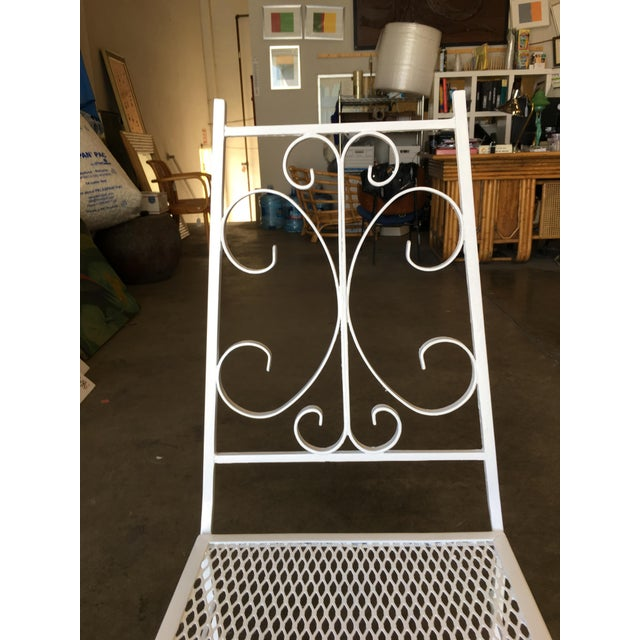 Metal Mid Century Outdoor/Patio Side Chair With Scrolling Pattern - Set of 4 For Sale - Image 7 of 9