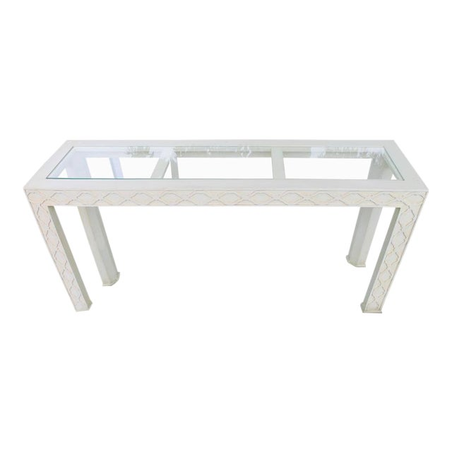 Henredon Chinoiserie Fretwork Console Table For Sale - Image 9 of 9