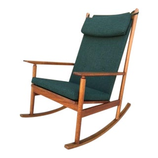 Hans Olsen Danish Modern Rocking Chair For Sale