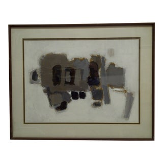 """20th Century Contemporary Original Framed Painting on Canvas, """"The Elephant"""" by Frederick McDuff For Sale"""