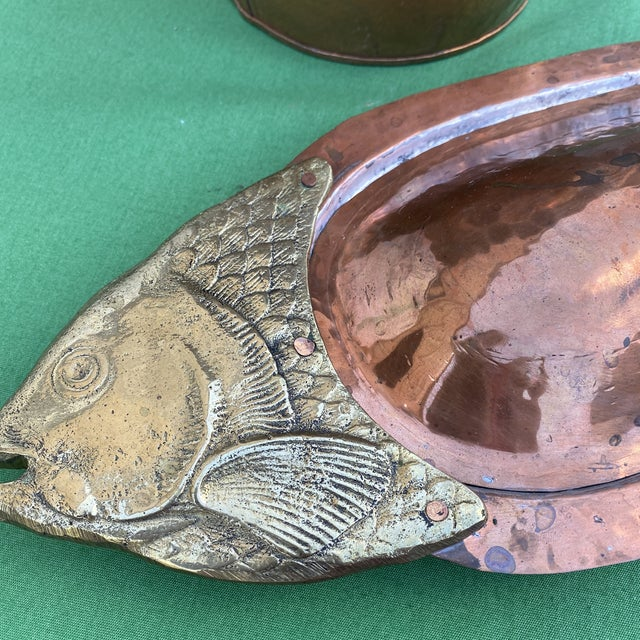 Love the personality on this copper champagne bucket and fish dish, perfect for oysters or shrimp or sauces, crackers and...