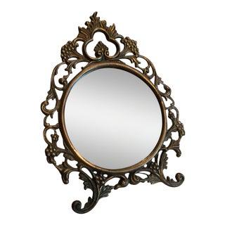 Vintage Ornate Vanity Mirror For Sale