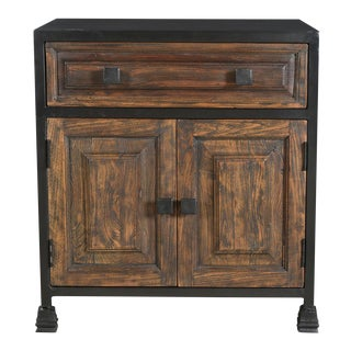Teak Wood One Drawer Nightstand