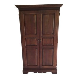 1990s American Cherry Wood Armoire For Sale