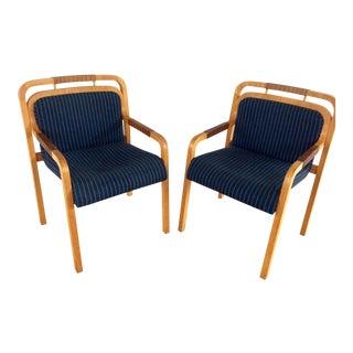 Gunlocke Modernist Armchairs - A Pair