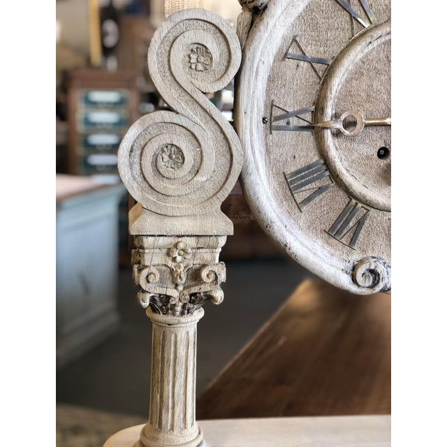 Late 19th Century French Renaissance Architectural Carved Clock For Sale - Image 5 of 10