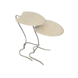 Salterini Nesting Lily Pad Tables - Set of 2 For Sale