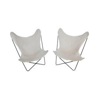 Knoll Vintage 1950's Pair Hardoy Butterfly Chairs For Sale