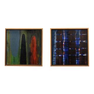 Pair of Original Paul Aho Paintings--USA 1992