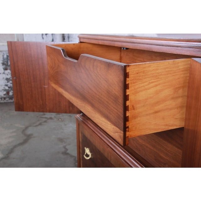 Early Herman Miller Burled Walnut Gentleman's Chest, Circa 1920s For Sale - Image 9 of 13