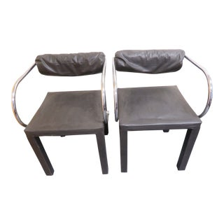 1980s Italian Paolo Piva Arcadia B&B Italia Dining Chairs - a Pair For Sale