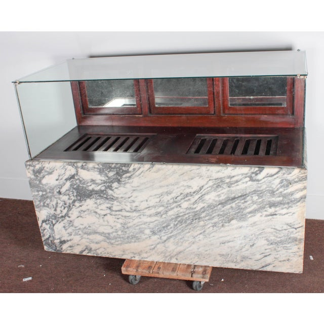 Glass Antique Marble & Glass Store Display For Sale - Image 7 of 10