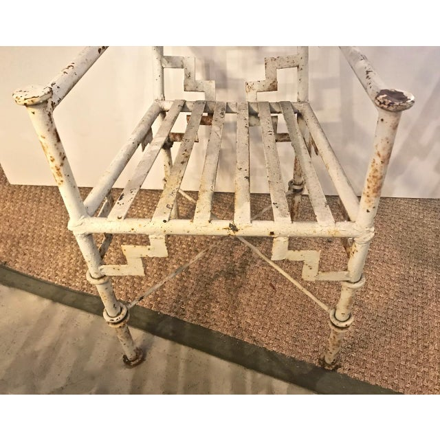 Metal Art Deco Iron Patio Chairs - a Pair For Sale - Image 7 of 9
