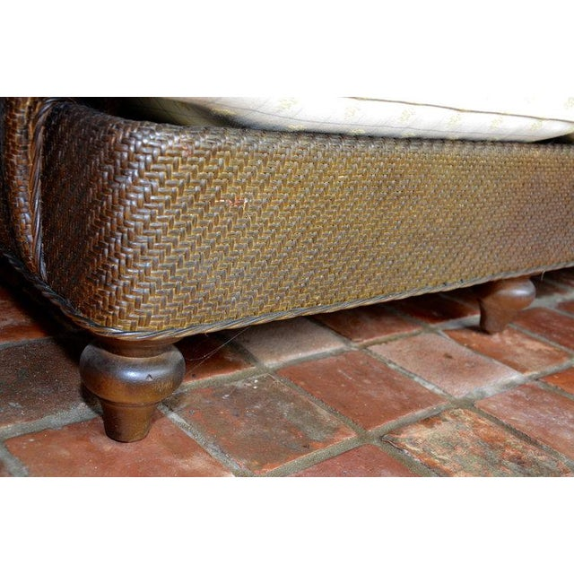 Hickory Chair Company Rattan Club Chair - Image 8 of 8