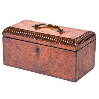 William VI Burr Walnut Tea Caddy For Sale