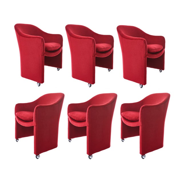 Milo Baughman for Thayer Coggin Barrel Dining Chairs in Mohair - Set of 6 For Sale - Image 9 of 9