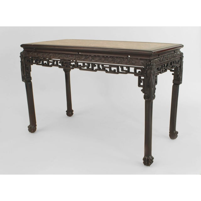 Late 18th Century Asian Chinese Style Rosewood Rectangular Center Table For Sale - Image 5 of 5
