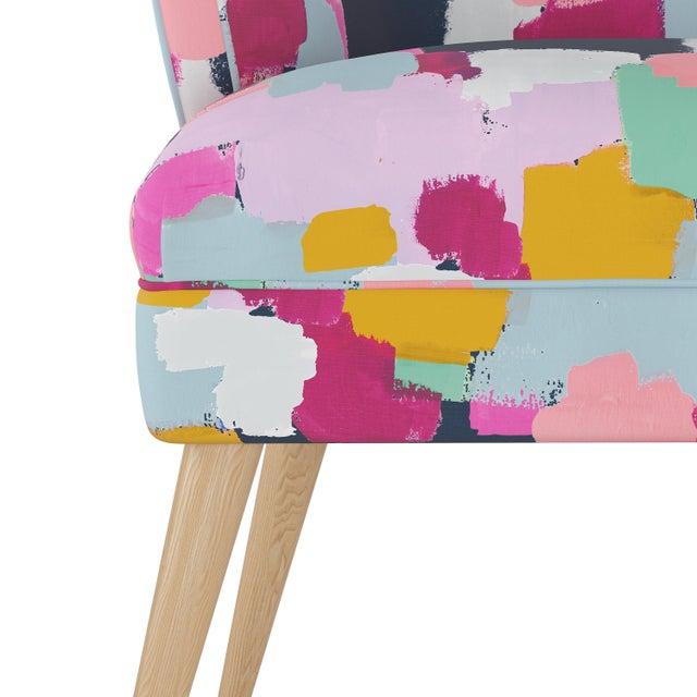 Spritely Home Modern Chair in Joyful Navy Oga For Sale - Image 4 of 7