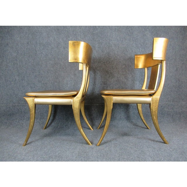 French Vintage Mid-Century Modern Klismos Chairs- a Pair For Sale - Image 3 of 13