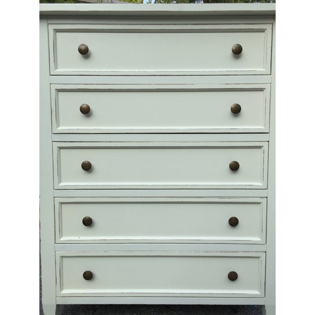 Crate & Barrel White Highboy Dresser For Sale In Boston - Image 6 of 10