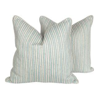 Brunschwig & Fils Pique Nique Pillows, a Pair For Sale
