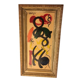 1960s Peter Keil Abstract Expressionist Oil Painting For Sale