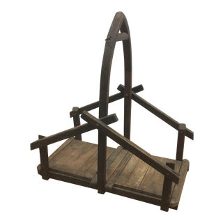 Caddy - Vintage Gothic Style Kindling Caddy For Sale