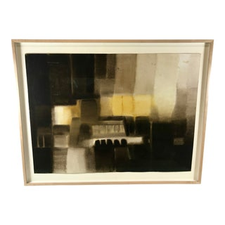 1957 Abstract Modern Architectural Watercolor Painting Vienna #2 by George Fred Keck For Sale
