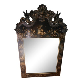 Chinoiserie Carved Wall Mirror For Sale