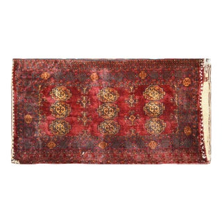 """Vintage Turkoman Tribal Hand Knotted Organic Wool Fine Weave Rug,3'x5'8"""" For Sale"""