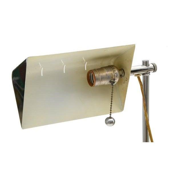Chrome Reading/Pharmacy Floor Lamp For Sale - Image 5 of 6
