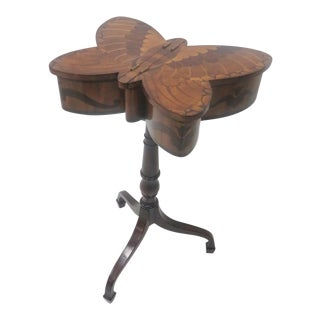 Theodore Alexander Inlaid Butterfly Side Table