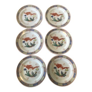 F.S. Louie Berkeley Chinese Restaurantware Plates - Set of 6