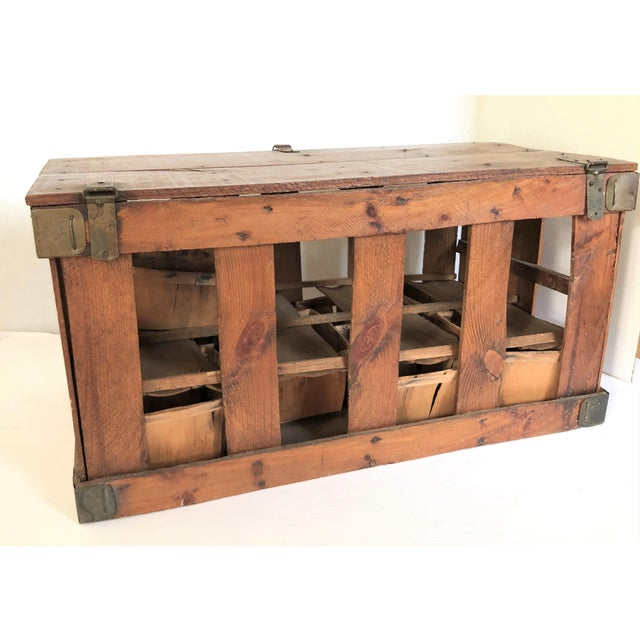 Mid 20th Century Antique French Berry Crate For Sale - Image 5 of 6