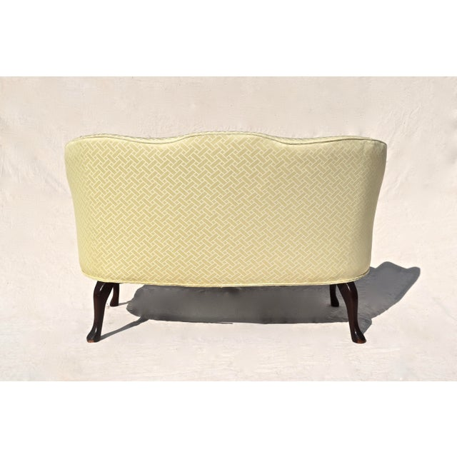 Curved Camel Back Demi Settee For Sale In Philadelphia - Image 6 of 14