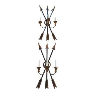 Wooden Arrow Sconces - A Pair