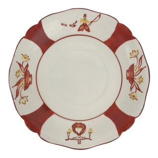Hand Painted Chinoiserie Plate For Sale