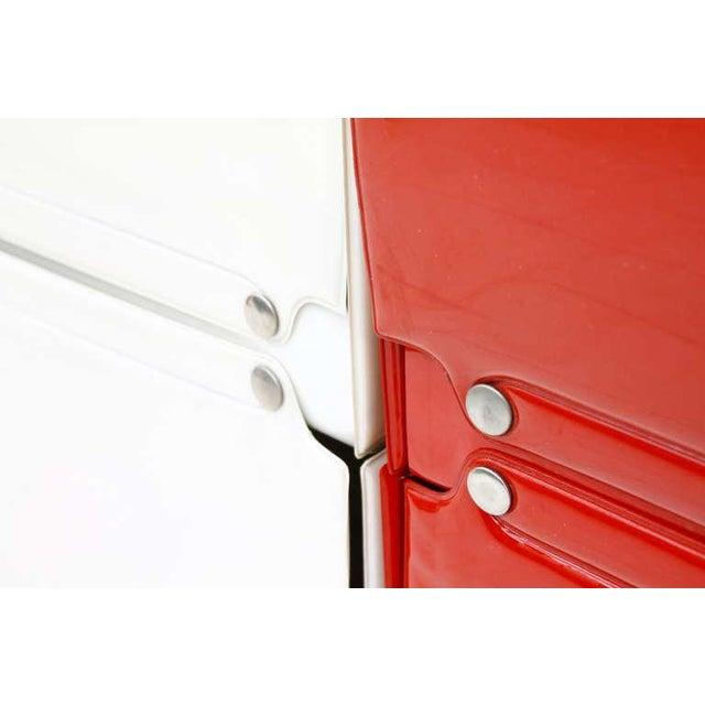 Softline Wall System, Shelf, Bookshelf by Otto Zapf, Germany 1971, Red / White For Sale - Image 9 of 10
