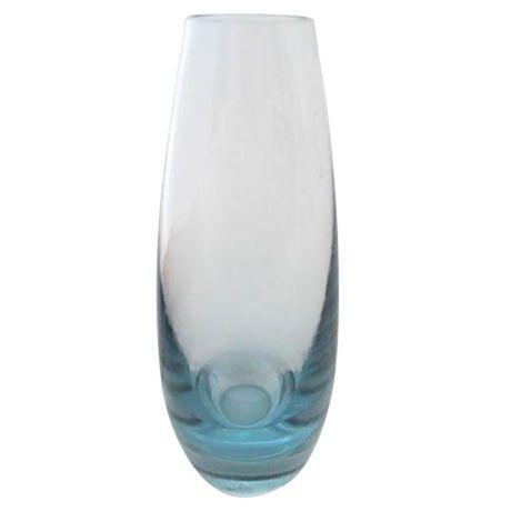 Mid Century Holmegaard Scandinavian Glass Vase Chairish