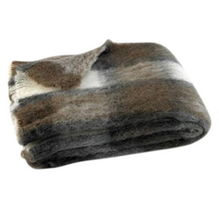 Chateau Plaid Brushed Alpaca Throw For Sale
