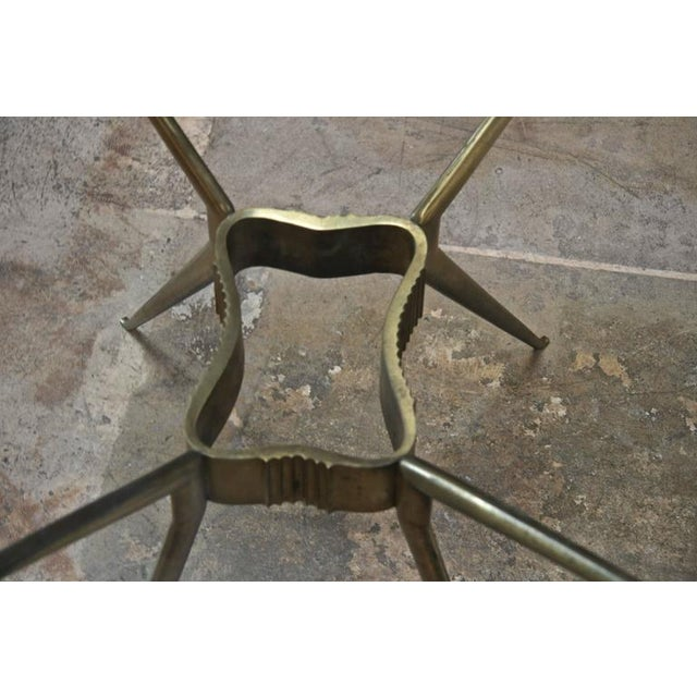 Italian 1950s Brass Cocktail Table For Sale - Image 4 of 9