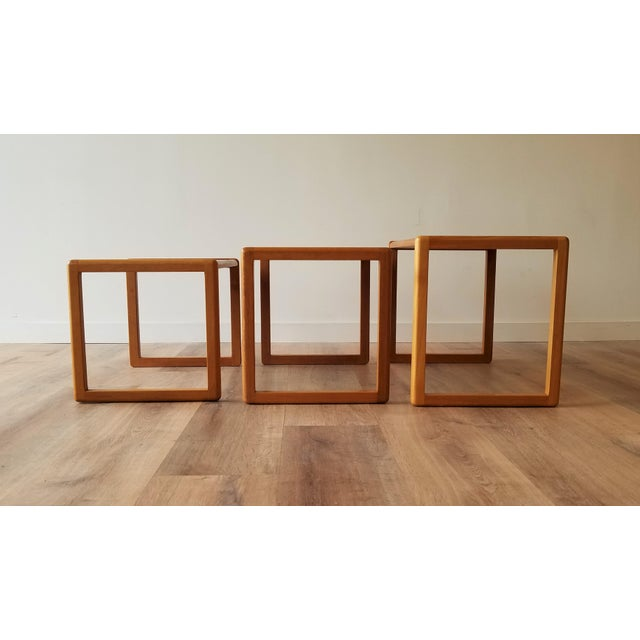 1960's Danish Teak Nesting Tables - Set of 3 For Sale In Seattle - Image 6 of 11