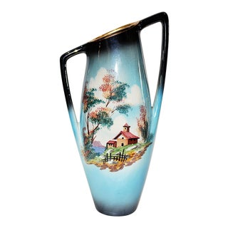 Italian Mid-Century Iridescent Vase For Sale