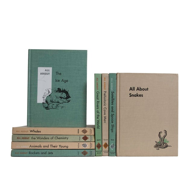 Features a blend of nine authentic mid-century books published 1957. Includes a delightful collection of All About books,...