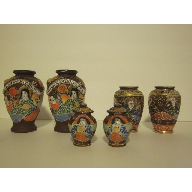 Satsuma Vases & Ginger Jars - Three Pair - Image 3 of 11