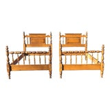 Image of Ethan Allen Traditional Maple Twin Beds- a Pair For Sale
