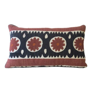 Vintage Suzani Textile Pillow For Sale