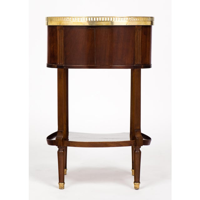 Louis XVI Marble-Top Mahogany Side Table - Image 7 of 10