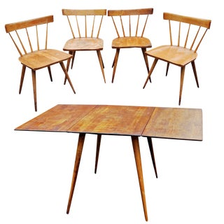 1950s Scandinavian Modern Paul McCobb for Planner Group Dining Set - 5 Pieces For Sale